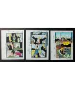 3 PAGES 1997 Original Daredevil Marvel color guide comic art:100s MOREIN... - $19.80