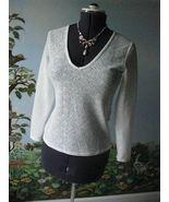 Reiss White Dandy-Fitted V Neck Women's Blouse SZ 4 NWT $130 - $59.39