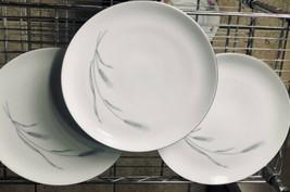 "Johann Haviland 10"" Wheat Plates (3) White Porcelain Bavaria, Germany Made - $31.68"