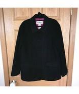 LL Bean Insulated Blazer Coat Womens Black Thinsulate Ultra Lined Rare R... - $79.20
