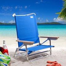 BEACH CHAIR Outdoor Patio Poolside Pool Folding Lounge Garden Camping Fu... - $78.88