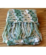 Handmade, Crochet Scarf With Fringe, Fashion Scarf, Accessories, Women, ... - $40.00
