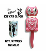 "STRAWBERRY ICE KIT CAT CLOCK 15.5"" Pink Free Battery MADE IN USA Kit-Cat... - $69.99"