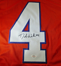 DESHAUN WATSON / AUTOGRAPHED HOUSTON TEXANS ORANGE CUSTOM FOOTBALL JERSEY / COA image 3