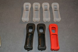 Nintendo Wii: Lot of 7 Official Silicone Remote Sleeves Covers Grips - $15.00