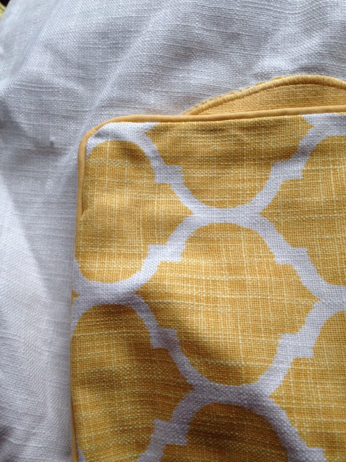 "Threshold Monogram L Yellow White Pillow Cover Square 18""x18"" New Initial"