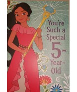 "Disney Elena Avalor Greeting Card Birthday ""You're Such a Special 5-Year... - $3.89"