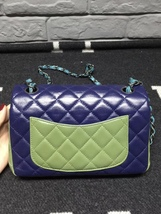 AUTHENTIC CHANEL TRI COLOR QUILTED LAMBSKIN LARGE MINI RECTANGULAR FLAP BAG  image 3