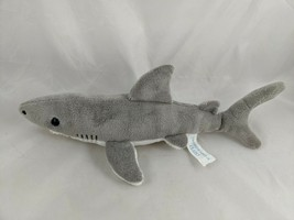 "Wishpets Clarky Gray Shark Plush 13"" 2003 Stuffed Animal - $9.70"