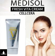 Medisol Fresh Vita Cream Cellcera 50ml Whitening Wrinkle Care Korea - $36.21