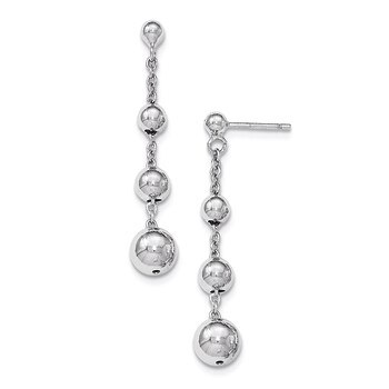 Primary image for Lex & Lu Sterling Silver Polished Beaded Post Dangle Earrings