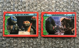 1991 Topps Teenage Mutant Ninja Turtles TMNT II Movie Cards Lot: #73 & #74 - $3.92