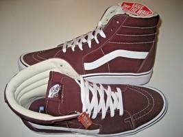 Vans Sk8-Hi Lite Mens Suede Canvas Port Royal Red White Skate shoes Size... - $59.39