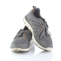 Skechers Skech Knit Gray Casual Athletic Sneakers Shoes Memory Foam Mens 12 - $29.54