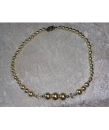 Vintage faux pearl bead aurora borealis  necklace So Downton Abbey Weddi... - $22.00
