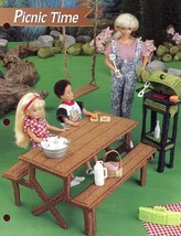 Picnic Time Table Grill fits Barbie Doll Plastic Canvas PATTERN/INSTRUCT... - $3.57