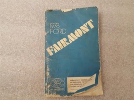 1978 FORD FAIRMONT Owners Manual 15897 - $13.81