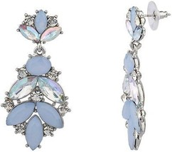 Lux Accessories Teardrop Elegant Pastel Pave Crystal Statement Earrings - $12.13