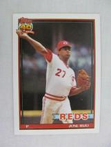Jose Rijo Cincinnati Reds 1991 Topps Baseball Card 493 - $0.98