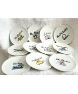 """Eleven 4"""" Pottery Barn MILLENIUM Tidbit Appetizer Plates Porcelain - $22.00"""