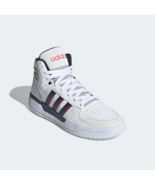 adidas Mens Entrap Mid Basketball-inspired shoes with timeless style white - $144.09