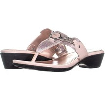 Marc Fisher Amina2 Thong Flip Flop Sandals 295, Pink Multi, 9.5 US - £15.38 GBP