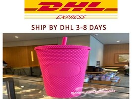 Limited Edition Starbucks Tumbler 2021 Barbie Pink Studded Cold Cup 710ml - $120.27