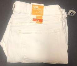 Old Navy Rock Star White Crop Jeans Sz 12 image 7