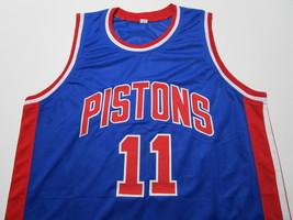 ISIAH THOMAS / NBA HALL OF FAME / AUTOGRAPHED DETROIT PISTONS CUSTOM JERSEY COA