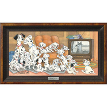 Disney Parks 101 Dalmatians Family Movie Night LE Framed Giclee by St. Laurent - $872.95