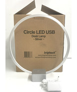 Brightech Circle LED Table & Desk Lamp Bright Orb of Light w Dimmer Works! - $84.14