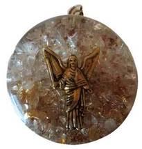 """1 1/2"""" Uriel Orgone Quartz & Citrine pendant pagan gemstone - $11.99"""
