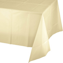 54 x 108 Plastic Tablecover Ivory/Case of 12 - $37.29