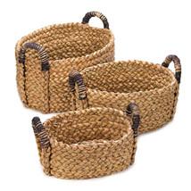 *15231B  Straw Rounded Nesting Baskets Set of 3 - $33.45