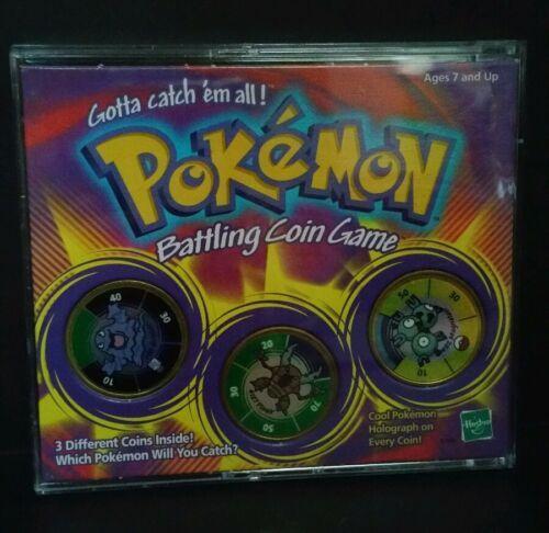 Pokemon Battling Coin Game Hasbro 1999 Includes Grimer Pinair and Magneton