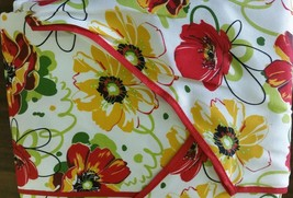 """Printed Kitchen Apron with towel, 23"""" x 36"""", FLOWERS by BH - $13.85"""