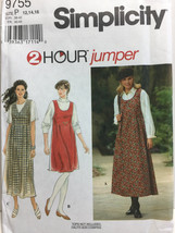 1990s, Dress Simplicity 9755 2 Hour Jumper,  neckline variations Size 14... - $2.00