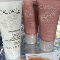 NEW Caudalie VINOPERFECT Serum Set W Vinopure  + Eye Cream image 2