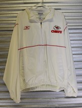Vtg 90s Kansas City Chiefs Reebok White Windbreaker Light Jacket -LG - €42,46 EUR