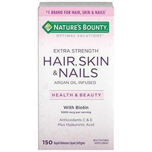 Extra Strength Hair Skin and Nails Vitamins by Nature's Bounty , 150 Ct - $15.52