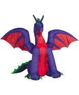 Halloween ANIMATED PROJECTION™ AIRBLOWN® INFLATABLE FIRE & ICE  DRAGON  ... - $231.26