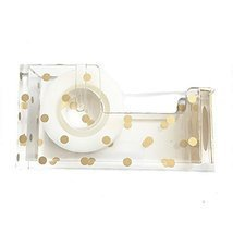 OnDisplay Luxe Acrylic Clear and Metallic Gold Tape Dispenser - Gold Pol... - $13.79