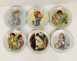 """6 Vtg Avon Mother's Day Porcelain Small 5"""" Plates 1981 '82 '83 '84 '85 & '88  - $9.89"""