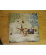 "12"" x 12"" Canvas Print Home Decor Wall Art Picture - Starfish & French L... - $9.40"