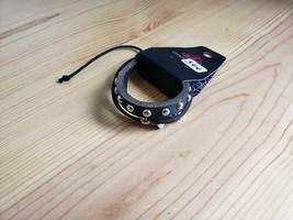 Paparazzi Bracelet(New)Black W/ Silver Gems 344 - $7.61