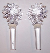 Pair Of Waterford Crystal Star Of Erin Marshall Fields Wine Bottle Stoppers - $29.44
