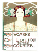 Women's Edition Courier vintage POSTER.Graphic Design.Wall Art Decoratio... - $10.89+