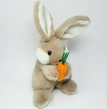 "12 "" Vintage 1985 ANIMAL TOY IMPORTS Marron Bunny Rabbit Avec / Carotte ... - $41.73"