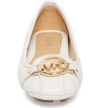 Michael Kors MK Women's Premium Designer Fulton Moccasin Flats Optic White image 4