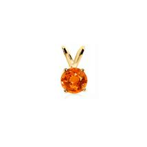 Women's 0.25 Ct. Padparadscha Orange Sapphire Pendant in 14k Gold - $206.55